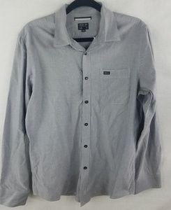 Gray RVCA long sleeve button up size M